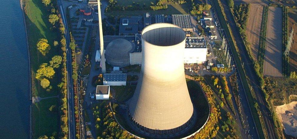 Letecký snímek odstavené německé elektrárny Mülheim-Kärlich, ilustrační foto