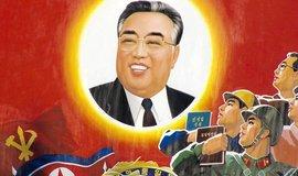 Propagandistické vyobrazení Kim Ir-Sena. Jeho vnuk nyní hrozí jaderný útokem.