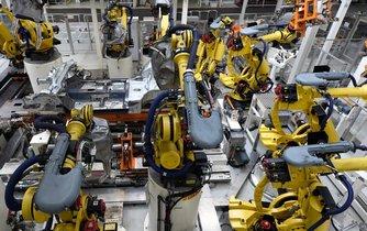 Robotí paže v automobilce