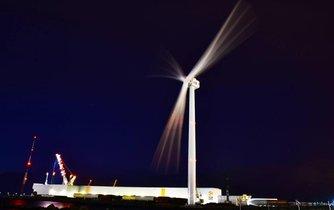 Nejsilnější vyráběná větrná turbína Haliade X výrobce GE, ilustrační foto