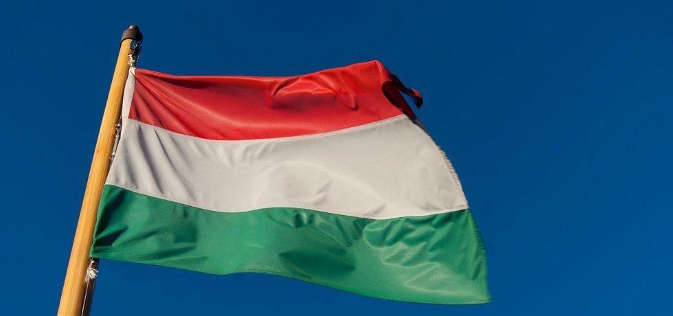 Maďarská vlajka, ilustrační foto