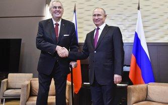 Putin ocenil Zemanův podíl na zlepšující se spolupráci obou zemí