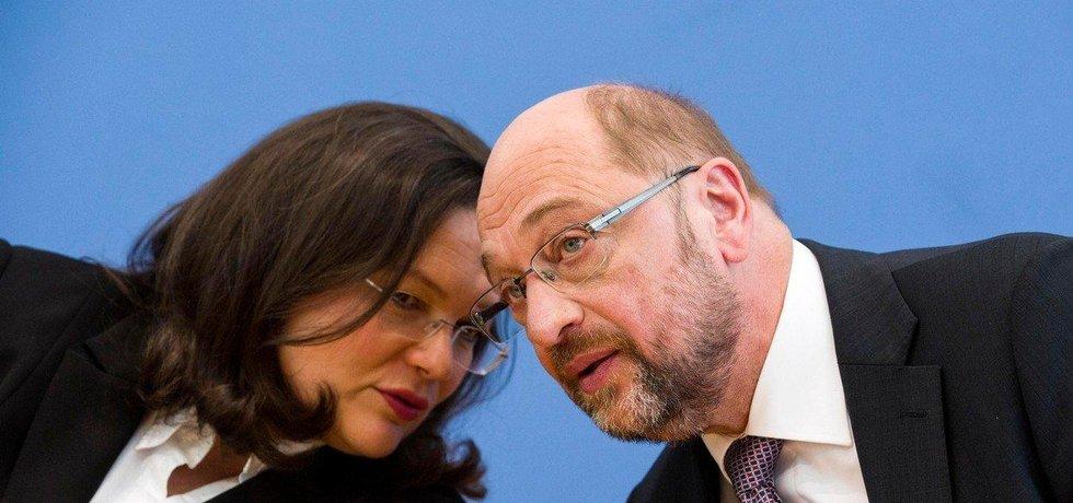 Martin Schulz a Andrea Nahlesová