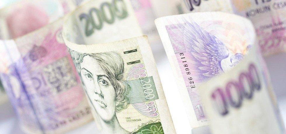 České bankovky, ilustrační foto