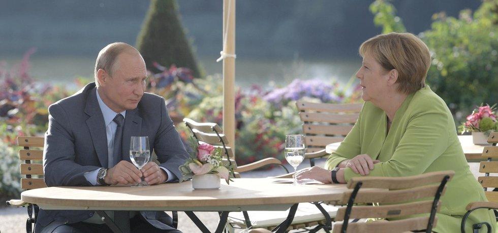 Německá kancléřka Angela Merkelová se  sešla s ruským prezidentem Vladimirem Putinem