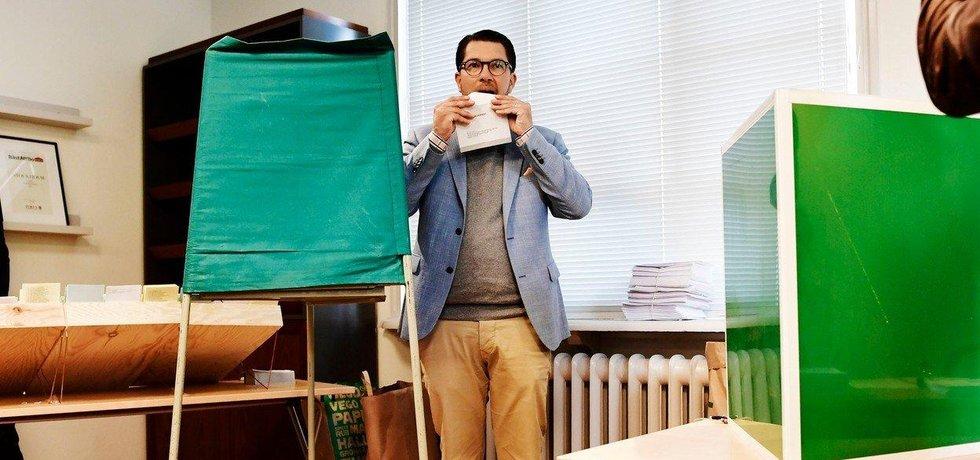 Předák Švédských demokratů  Jimmie Åkesson