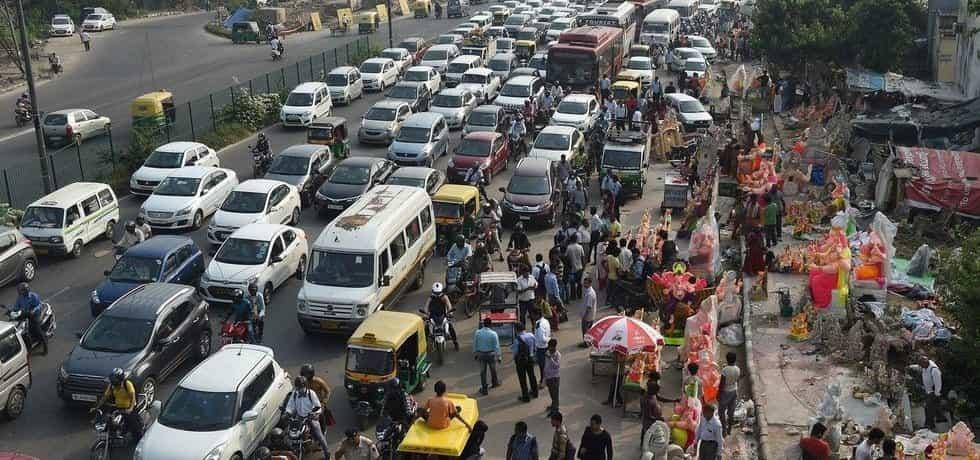 Doprava v Novém Dillí, ilustrační foto