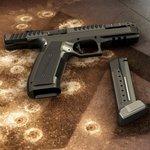 Pistole Alien od Laugo Arms Czechoslovakia. Má zásobník na 17 nábojů.