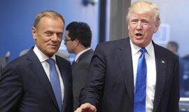 Donald Tusk spolu s Donaldem Trumpem