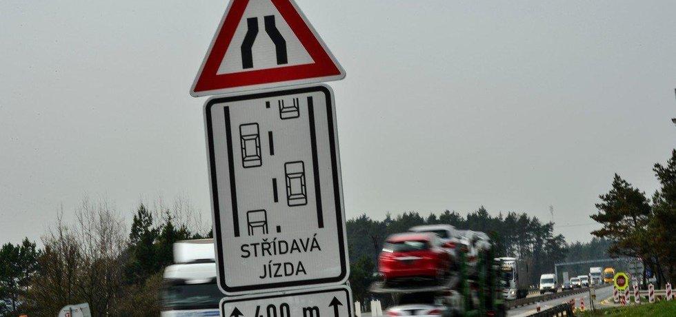 Opravy na dálnici D1, ilustrační foto