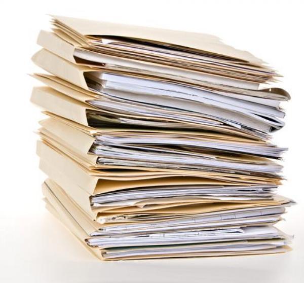 dokumenty, kartotéka, záznamy