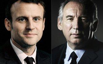François Bayrou (vpravo) a Emmanuel Macron