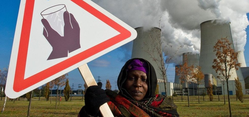 Protest proti uhelné elektrárně, ilustrační foto