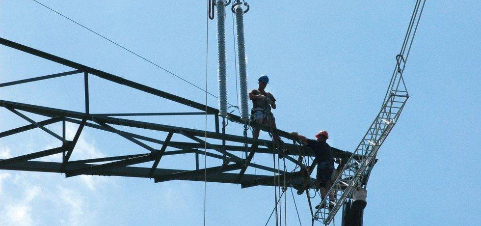 Servis elektrického vedení, ilustrační foto