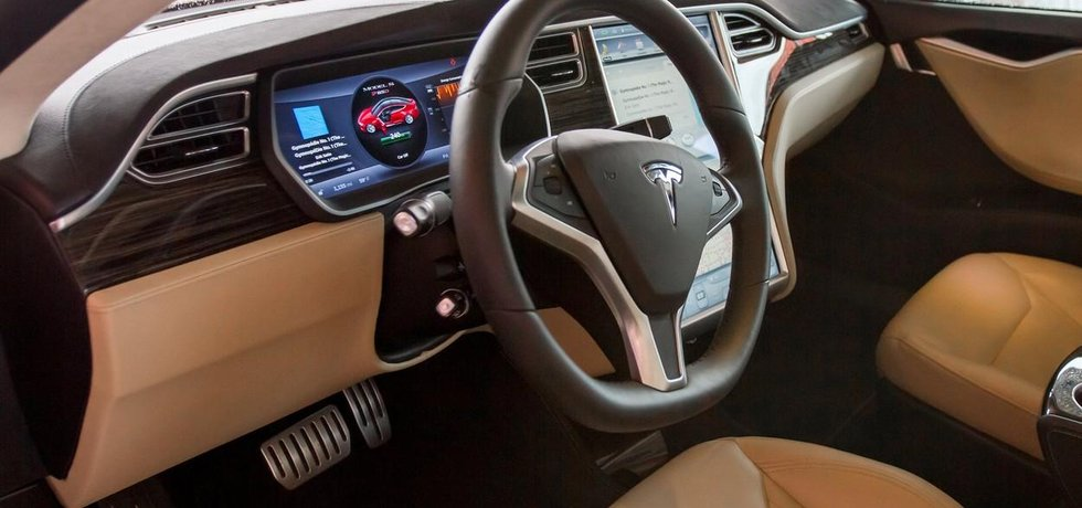 Interiér vozu Tesla Model S