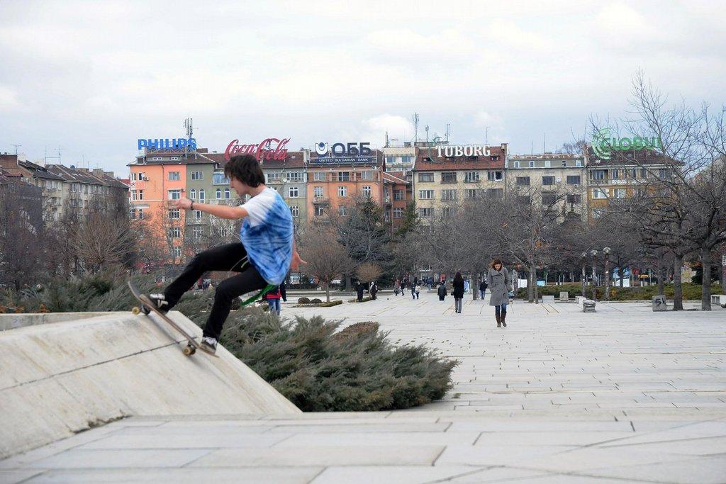 Sofie, park poblíž stanice metra NDK.