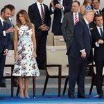 Donald Trump na vojenské přehlídce v Paříži v roce 2017.
