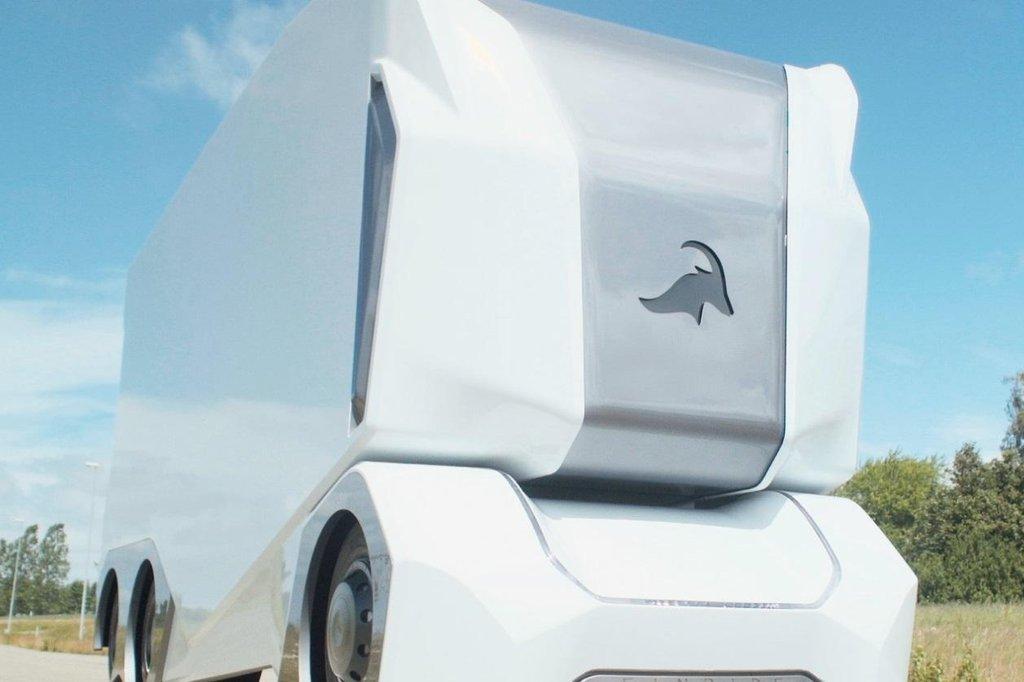Elektrický kamion bez kabiny pro řidiče.