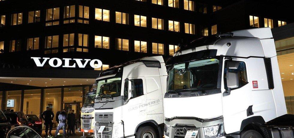 AB Volvo je předním švédským výrobcem nákladní automobilů, ilustrační foto