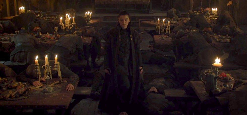 Arya Stark poté co povraždila všechny mužské Freye