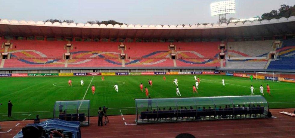 Kvalifikační utkání mezi týmy Severní a Jižní Koreje