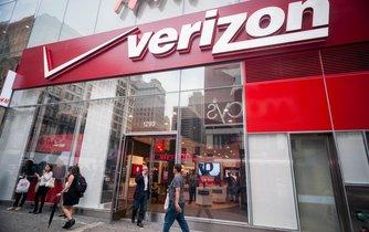 Prodejna společnosti Verizon v New Yorku
