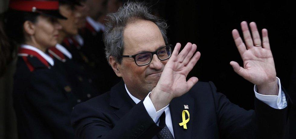 Katalánský premiér Quim Torra