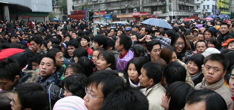 Fronta v Číně - ilustrační foto