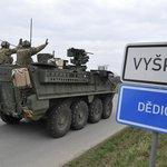 Průjezd americké kolony Českem, ilustrační foto