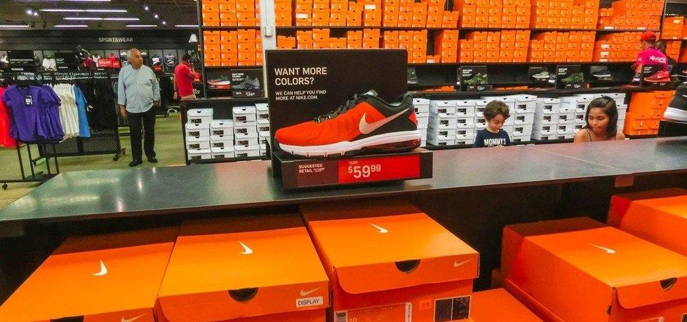 Obuv firmy Nike, ilustrační foto