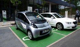Dobíjecí stanice pro elektromobily, ilustrační foto