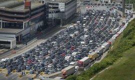 Dopravní zácpa v přístavu Dover, ilustrační foto