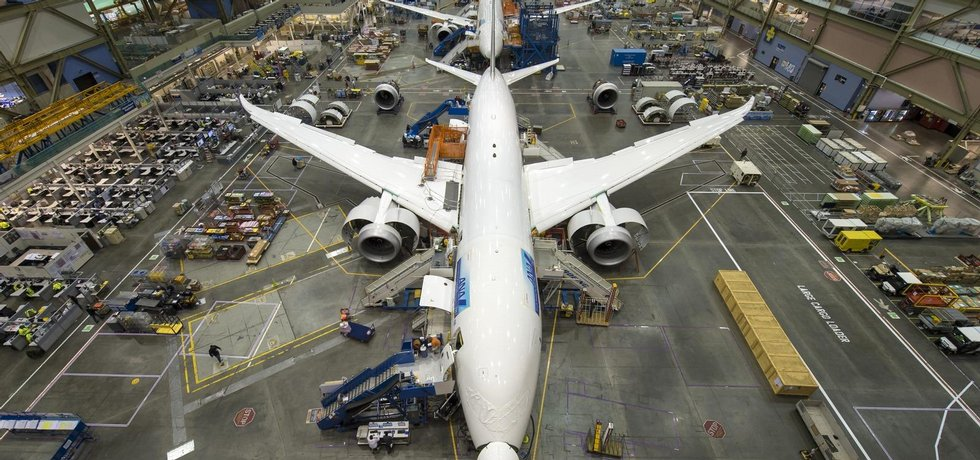 Výrobní linka Boeingu 787 Dreamliner