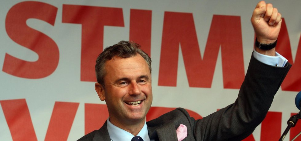 Rakouský prezidentský kandidát Norbert Hofer