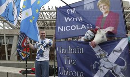 Příznivci nového skotského referenda o nezávislosti na Velké Británii