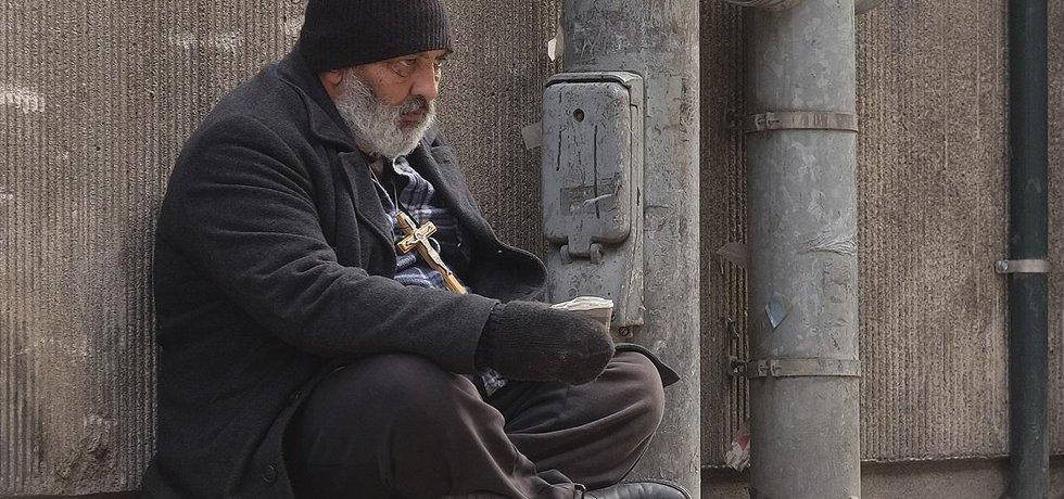 Bezdomovec ve Finsku - ilustrační foto