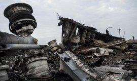 Trosky zříceného Boeingu 777 společnosti Malaysia Airlines