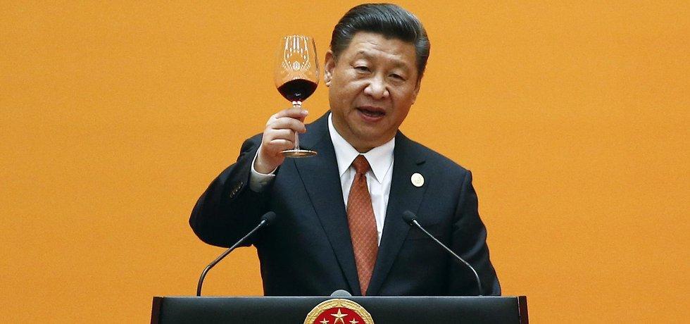 Si Ťin-pching vítá hosty konference