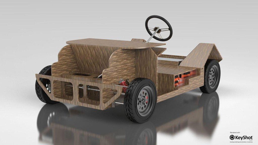 Počítačový model vozu Noah.