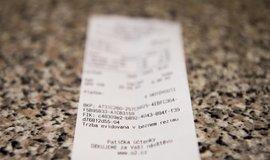 Na snímku je účtenka vytištěná z elektronického systému tržeb v pardubickém Imperialu.