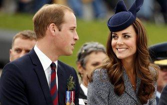 Britský princ William a vévodkyně Kate