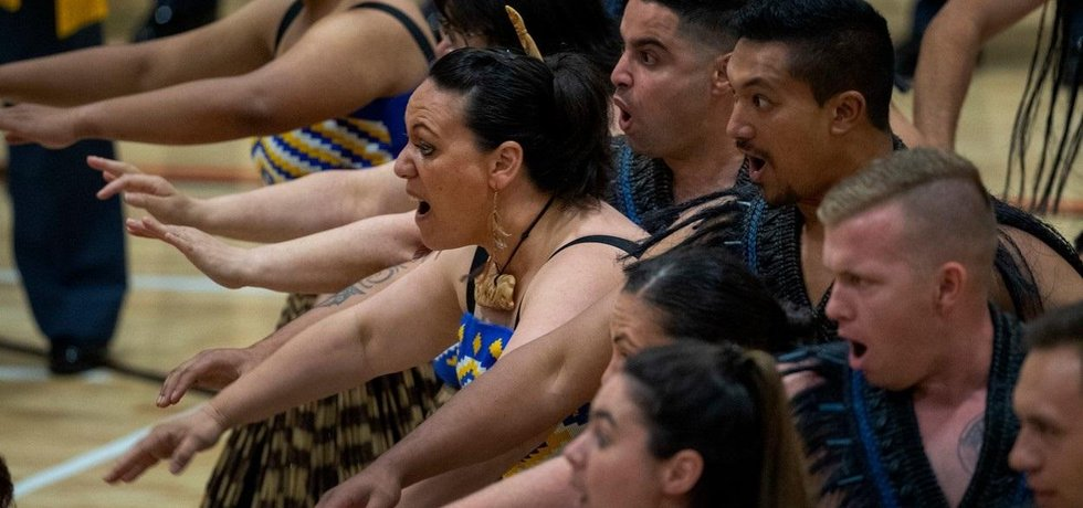 Maorský tanec haka, ilustrační foto