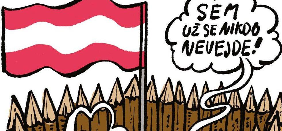 Ilustrace k eseji Z dějin normální evropské strany