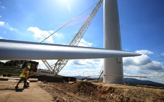 Výstavba větrné elektrárny ve Václavicích u Hrádku nad Nisou