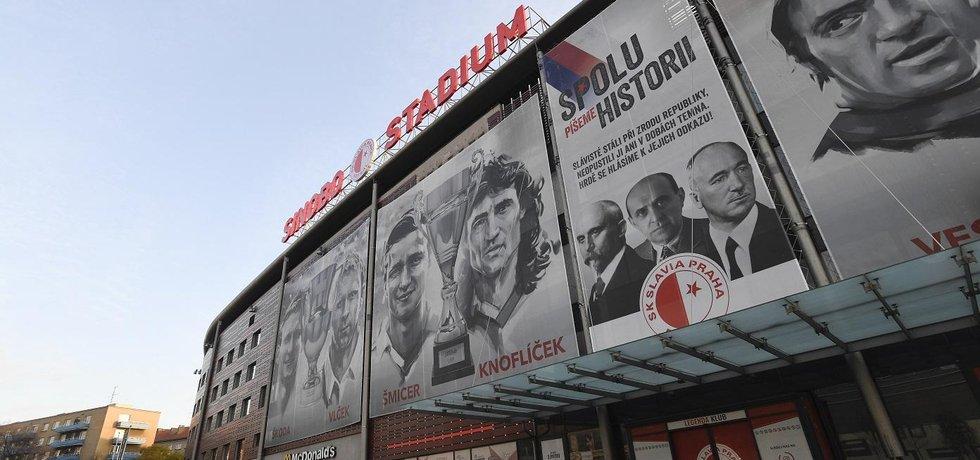 Stadion pražské Slavie v Edenu nese nově jméno nového majitele klubu, čínské společnosti Sinobo