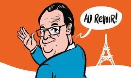 Francois Hollande - kresba