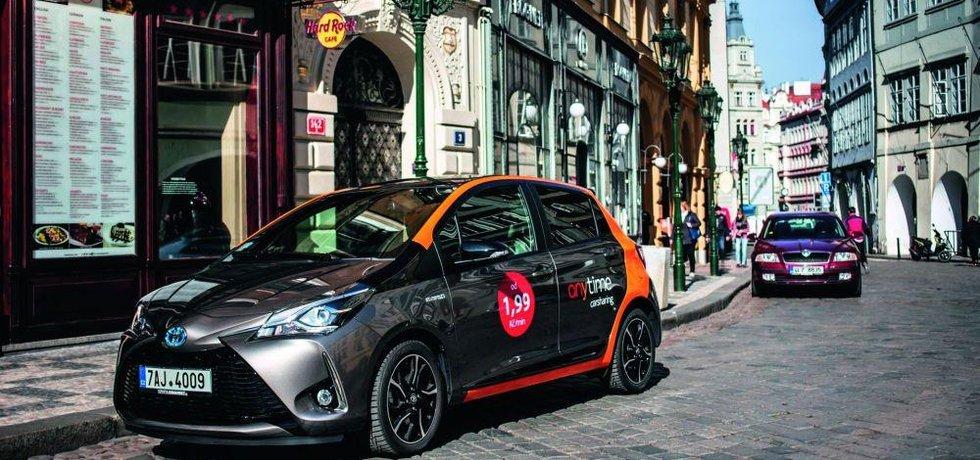 Carsharing v Praze, ilustrační foto