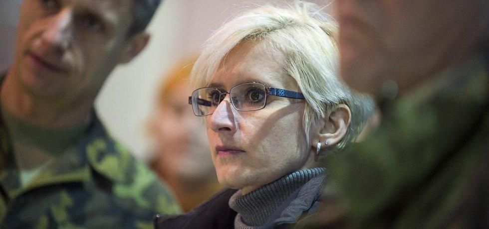 Ministryně obrany Karla Šlechtová