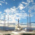 Počítačová simulace startu rakety Falcon 9