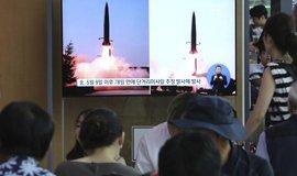 Odpal severokorejských raket, ilustrační foto